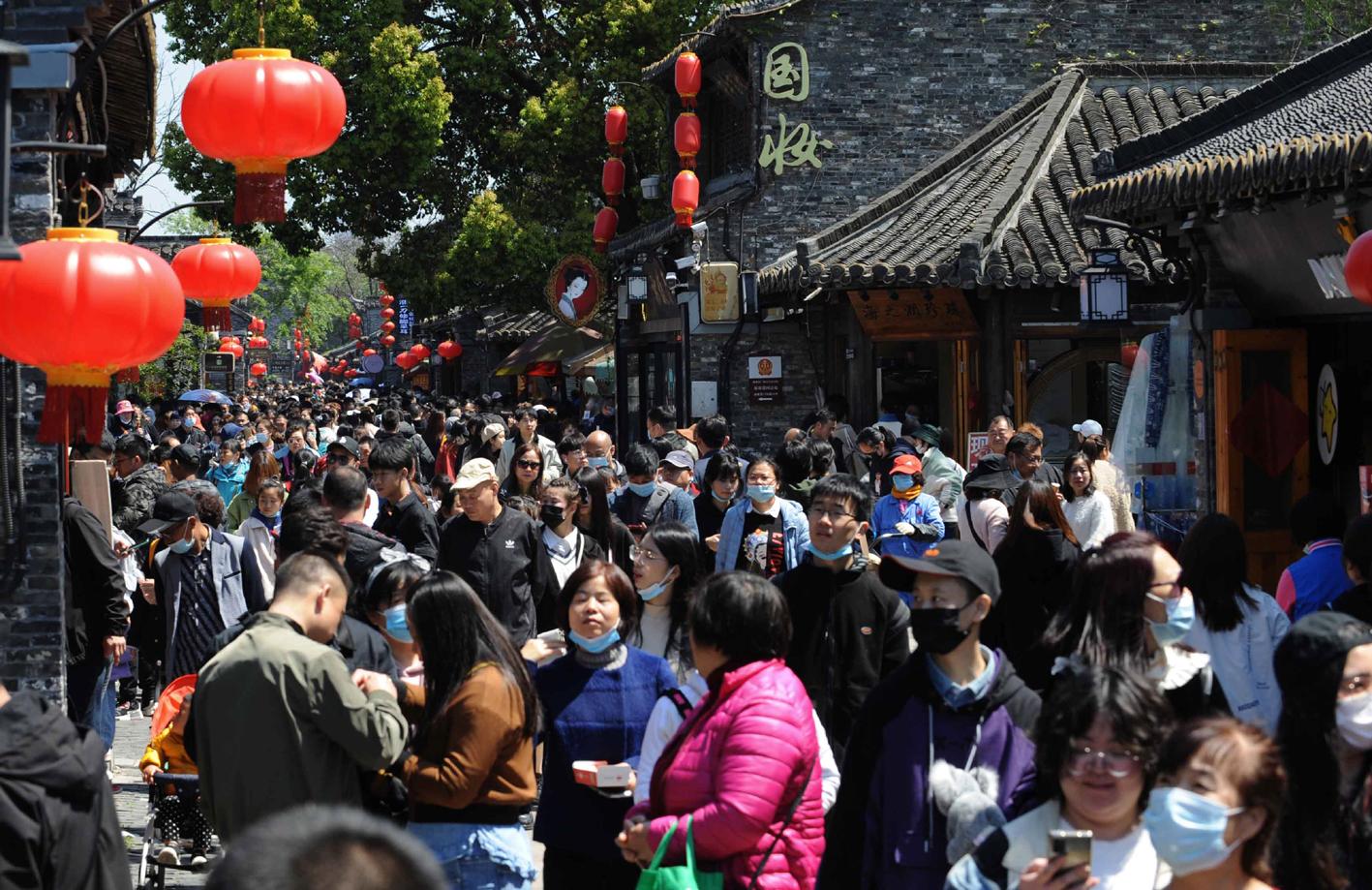 清明小长假扬州各大景区人气旺